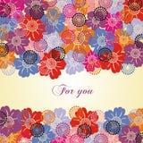 Bunte Blumenpostkarte Stockfoto