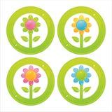 bunte Blumentasten vektor abbildung
