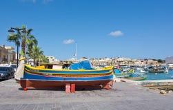 Bunte Boote Marsaxlokk Lizenzfreie Stockbilder