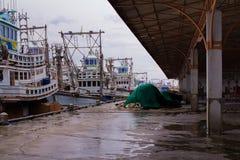 Bunte Boote, Thailand Stockfotos