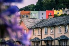 Bunte Bristol-Häuser Lizenzfreies Stockbild