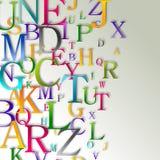Abstrakter Hintergrund des Alphabetes Stockfotos