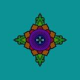 Bunte buddhistische Mandala Ethnische Symbolfigur lizenzfreie abbildung