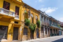Bunte Cartagena-Gebäude Lizenzfreies Stockfoto