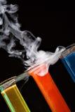 Bunte Chemie Stockbild