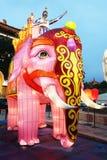 Bunte chinesische Laternen an einem Festival in Xian Lizenzfreies Stockbild