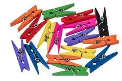 Bunte Clothespins Stockfoto