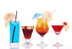 Bunte Cocktails Lizenzfreies Stockbild