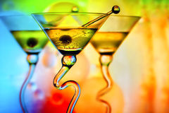 Bunte Cocktails lizenzfreie stockfotos