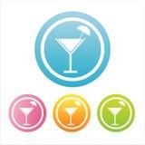 Bunte Cocktailzeichen lizenzfreie abbildung