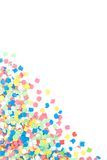 Bunte Confettis Stockfoto