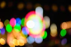 Bunte defocused Farbe beleuchtet bokeh Hintergrund, Chrismas-Licht Stockfotografie