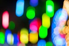Bunte defocused Farbe beleuchtet bokeh Hintergrund, Chrismas-Licht Stockfotos