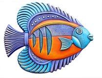 Bunte dekorative Fische Stockbild