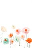 Bunte dekorative handgemachte Blumen Stockfotos