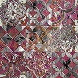 Bunte dekorative quadratische Musterfliese der Weinlese lizenzfreie stockfotos
