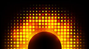 Bunte Disco des Vektors beleuchtet Rahmen Stockbild