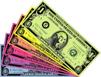 Bunte Dollar Stockfotografie
