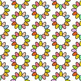 Bunte Eier übergeben gezogenes nahtloses Muster mit netten lächelnden Geschöpfen vektor abbildung