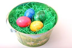 Bunte Eier Stockbild