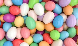 Bunte Eier 3d Stockbilder