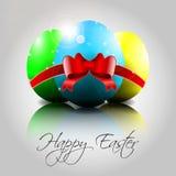 Bunte Eier Vektor-glückliche Ostern Lizenzfreies Stockbild