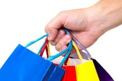 Bunte Einkaufenbeutel Stockfoto