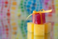 Bunte Eis-Würfel Stockbild