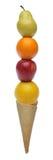 Bunte Eiscreme der frischen Früchte lizenzfreie stockbilder