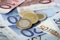 Bunte Eurobanknoten Lizenzfreies Stockfoto
