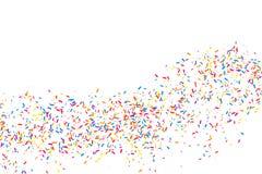 Bunte Explosion von Konfettis Farbiger körniger Beschaffenheitsvektor Stockfotos