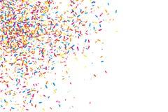 Bunte Explosion von Konfettis Farbiger körniger Beschaffenheitsvektor Stockfoto