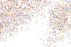 Bunte Explosion von Konfettis Farbiger körniger Beschaffenheitsvektor Lizenzfreies Stockfoto