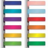 Bunte Farbbänder mit Schatten 2 Stockfotografie