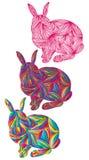 Bunte Farbe des Kaninchens Lizenzfreies Stockfoto