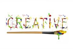 Bunte Farbe gemaltes Wort kreativ lizenzfreie abbildung
