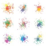 Bunte Farbe spritzt auf Weiß Plus-EPS10 Lizenzfreie Stockfotos