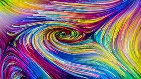 Bunte Farben-Geheimnisse stock abbildung