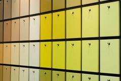 Bunte Farbenproben Stockbilder