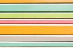 Bunte Farbstreifen horizontal Stockfotografie