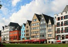 Bunte Fassade der Häuser in Deutschland Stockbilder