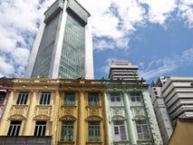 Bunte Fassade in Kuala Lumpur stockfoto