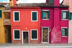 Bunte Fassaden, Burano-Insel Lizenzfreie Stockfotos