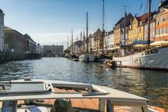 Bunte Fassaden entlang Nyhavn, Kopenhagen lizenzfreies stockfoto