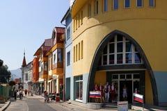 Bunte Fassaden von Ruzomberok Lizenzfreie Stockfotografie