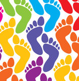 Bunte Füße Stockfoto