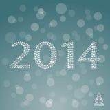 Bunte Feier des guten Rutsch ins Neue Jahr 2014. Lizenzfreie Stockfotografie
