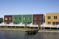 Bunte Feiertags-Häuser Lizenzfreie Stockfotos