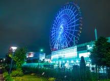 Bunte Ferris Wheel in Tokyo Odaiba - TOKYO, JAPAN - 12. Juni 2018 Stockbild