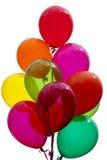 Bunte festliche Ballone Stockfoto